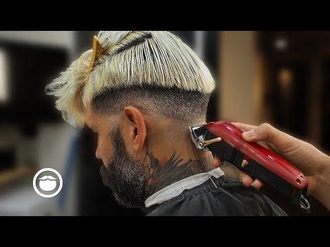 Insane Barber Skills On Handsome Male Model | ODPHADEZ