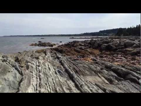 Rocky ocean coastline of Lunenburg Co, Nova Scotia