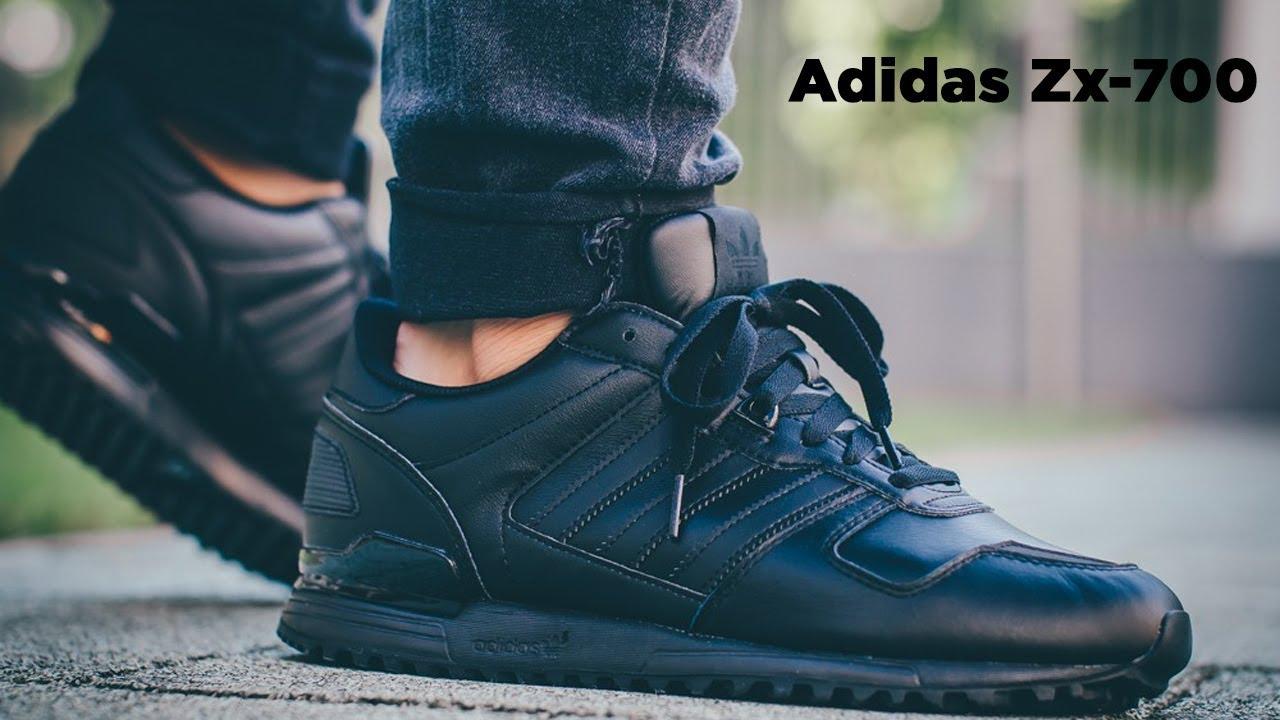 adidas zx 700 Black Leather | eBay