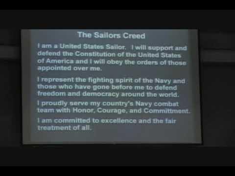 Sailors Creed - Navy PIR 10/30/09