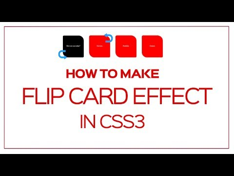 How to make CSS3 Flip Card Animation trick for boxes : Css Tutorial for Beginners