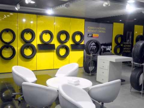 Pirelli Tyres Showroom in Qatar
