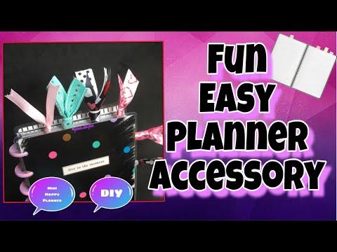 DIY Ribbon Paper Clip Planner Accessory