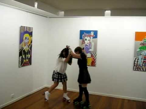Clay Smith Art - Circle Gallery Exhibition - Roller Brawl