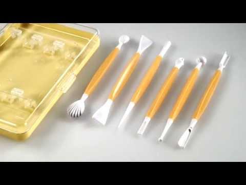 632912 juego de 6 utensilios para modelar pasta de az car for Ceramica para modelar