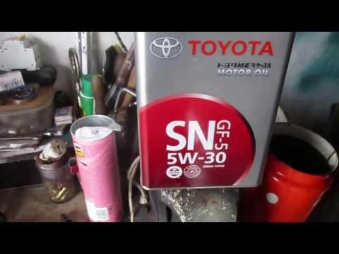 Замена масла в двигателе TOYOTA AVENSIS II