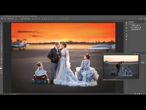 Flight at Sunset: - Photoshop Fine Art Editing Workshop by Sierra Pearl Photography - Preview thumbnail