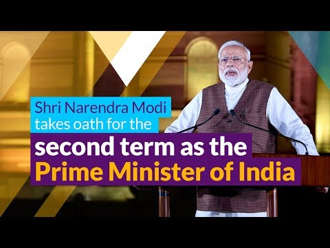 Shri Narendra Modi takes oath for the second term as the Prime Minister of India | PMO