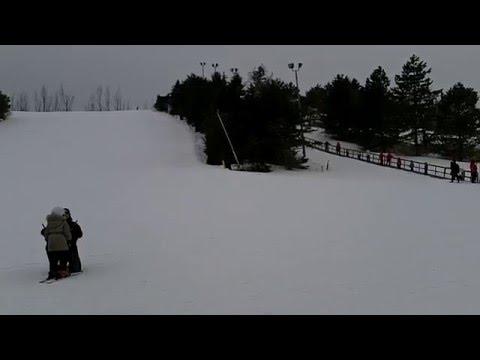 Ski lesson for little ones at Centennial Park, Toronto