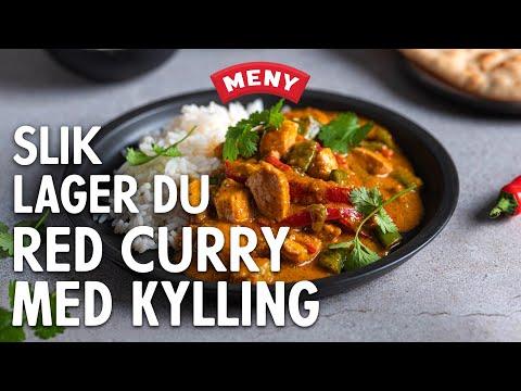 Slik lager du red curry med kylling