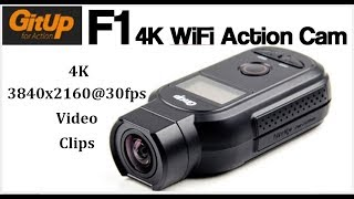 GitUp F1 90° 4K Action Camera review - 4K Video Clips