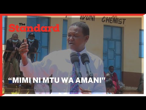 Alfred Mutua dismisses information circulating on social media networks about his candidate Katuku