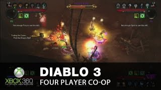 Diablo 3 Xbox 360 multiplayer - four-player co-op chaos with commentary