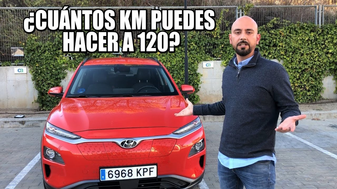 Prueba de autonomía a 120 km/h: Hyundai Kona EV