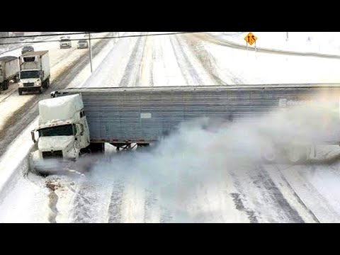Top 10 Dangerous Ridiculous Drivers and Slip / Slide Winter Weather