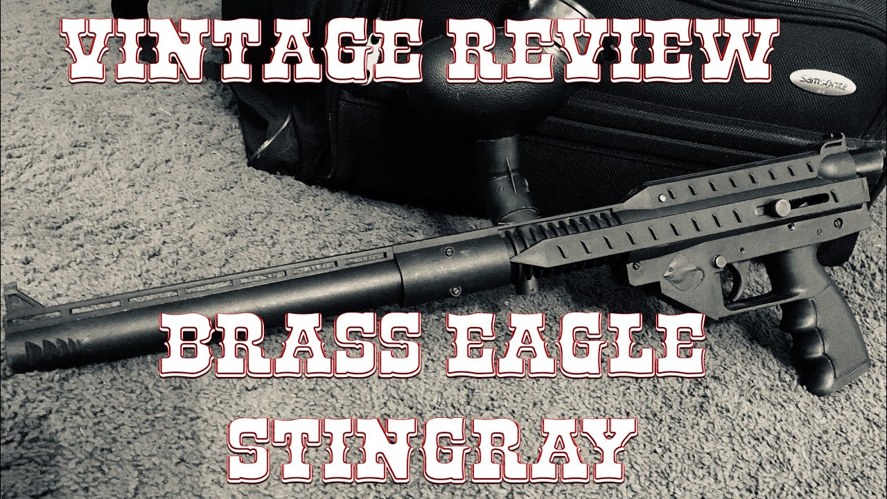 Stingray Paintball Black Gun Accesories Outdoor Cad Drawings Of Tippmann 98 Mcarterbrowncom Vintage Review Brass Eagle 1 Overview With Shooting Vid