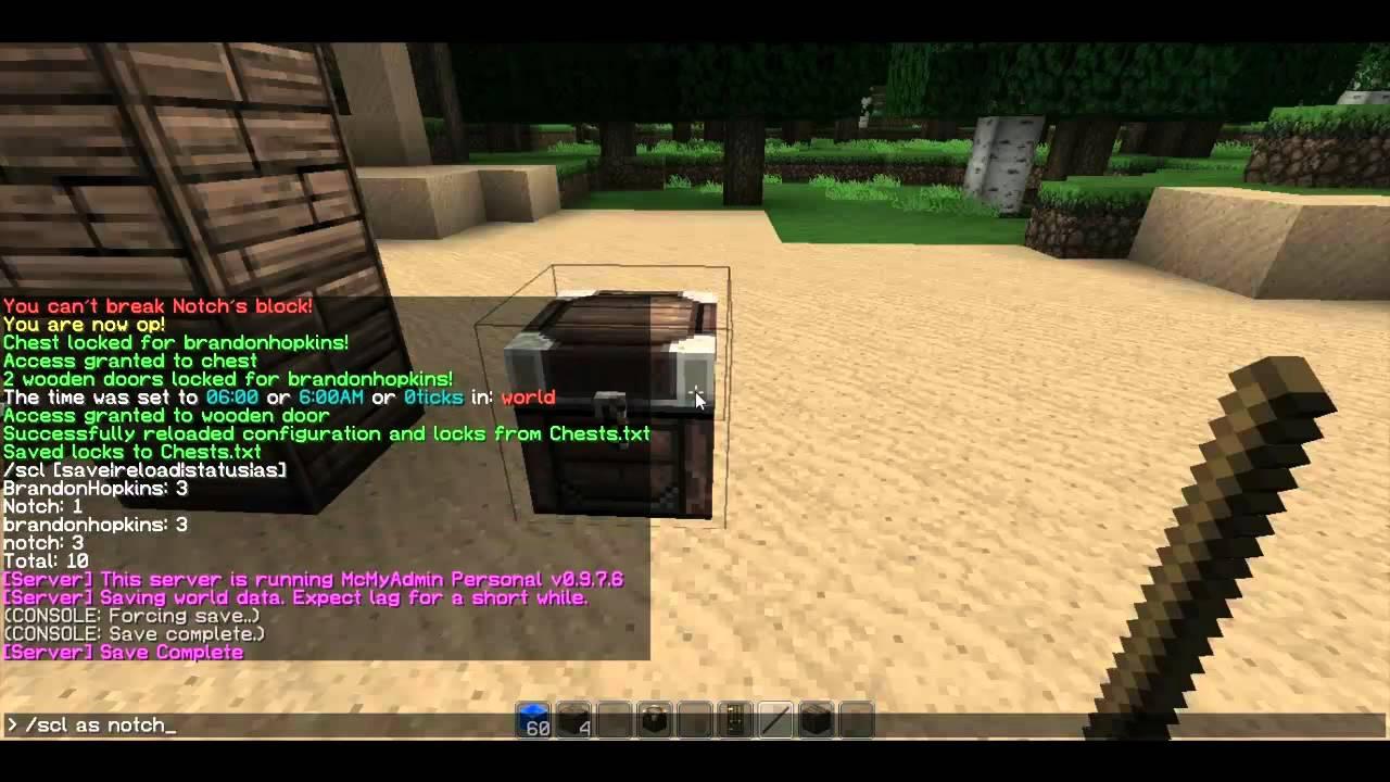Minecraft Lock Chest Bukkit Chestlock Bukkit