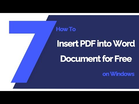 How To Insert PDF Into Word Document For Free On Windows   PDFlement 7