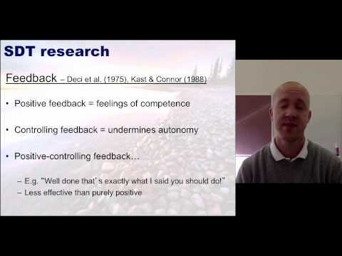 Sport and Performance Psychology - Self Determination Theory Lecture