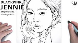 How to draw Jennie Blackpink step by step  Tutorial