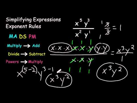 Using Exponent Rules To Simplify Exponential Expressions
