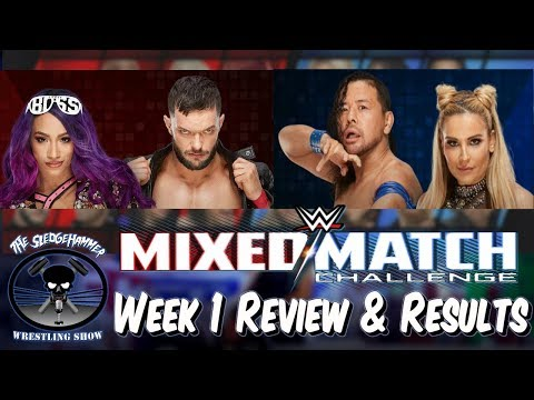 WWE Mixed Match Challenge 1/16/18 Week 1 Results - The Boss Club Balor & Banks vs Nakamura & Natalya
