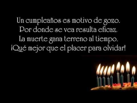 Cumpleaños Poema De Rod Medina Youtube