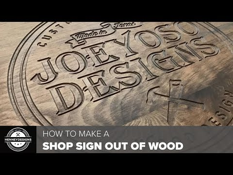 DIY Shop Sign Out of Wood // Woodworking & CNC Work
