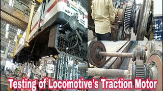 What is traction motor in locomotive? Which motor is used in railway traction?