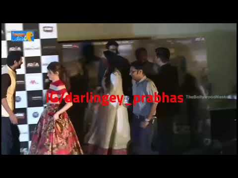 Look how Anushka stopped Prabhas from going ahead | Bahubali promotions | Pranushka | Darling&Sweety