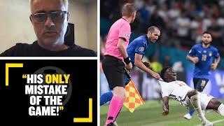 """HIS ONLY MISTAKE OF THE GAME!"" José Mourinho reacts to Giorgio Chiellini's foul on Bukayo Saka"