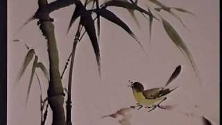 Bamboo and Bird - Chinese Brush Painting by Virginia Lloyd-Davies