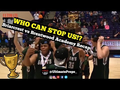 STATE CHAMPS: Briarcrest Saints HIT THE GAS vs Brentwood Academy for the GOLD BALL | Game Recap!!
