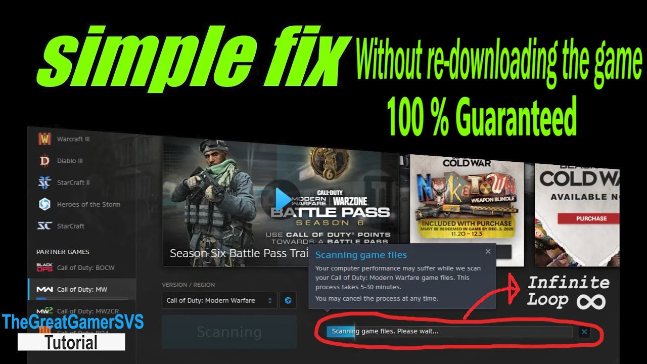 Download How to fix Modern Warfare / Cold War unlimited scan & repair loop (Without re-downloading the game)