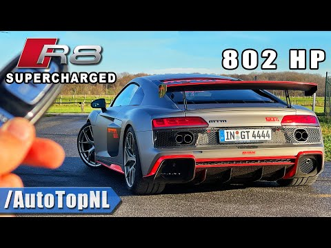 802HP AUDI R8 V10 PLUS Supercharged *320KMH* REVIEW on AUTOBAHN by AutoTopNL