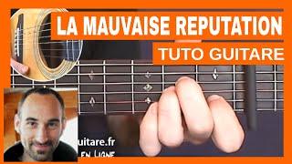 """Georges Brassens """"La Mauvaise Réputation"""" Tuto Guitare"""
