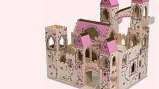 Deluxe Wooden Folding Princess Castle
