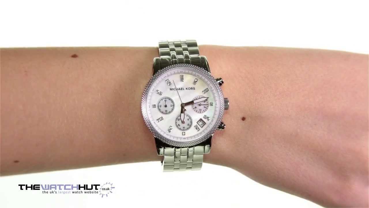 d7eb55a06a39 Michael Kors Ladies Chronograph Watch MK5020 - YouTube