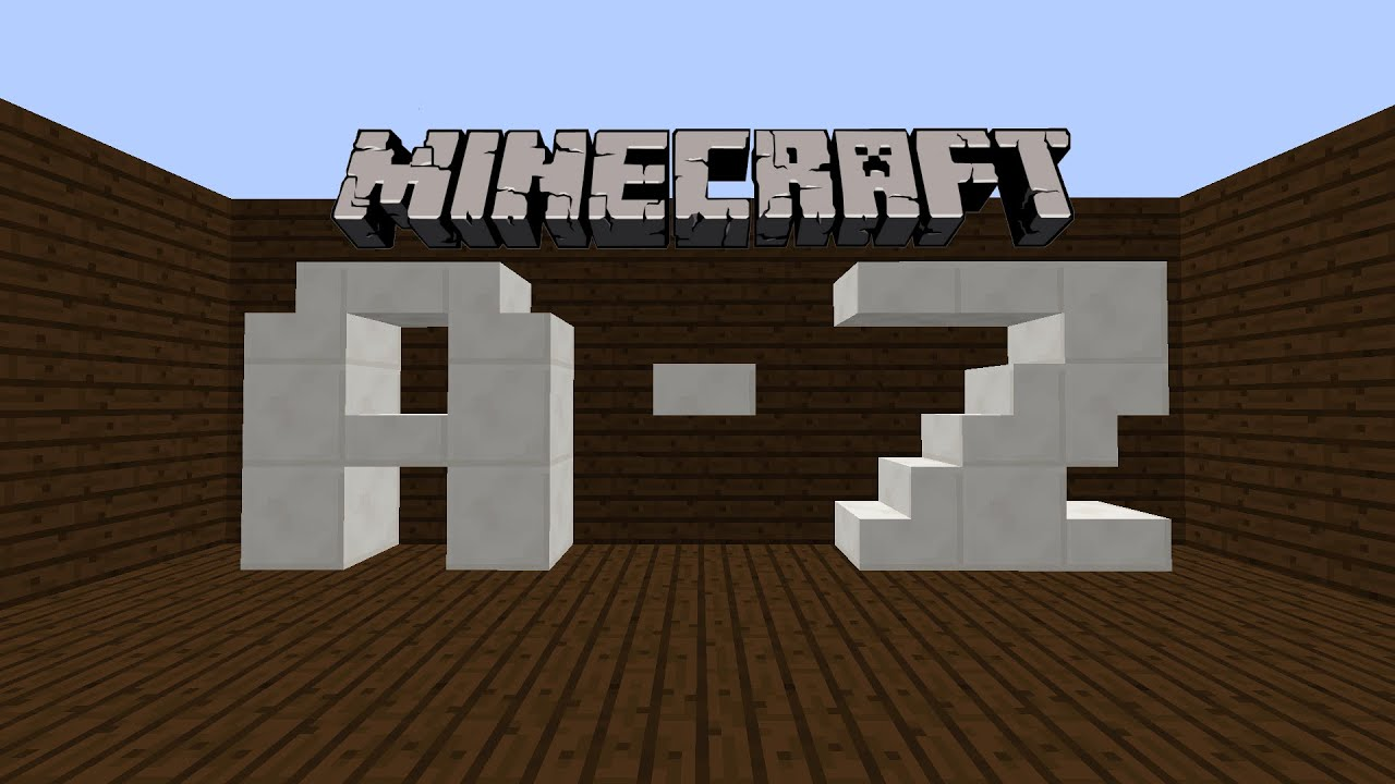Minecraft Tutorial: How to make 8x8 letters A-Z!!