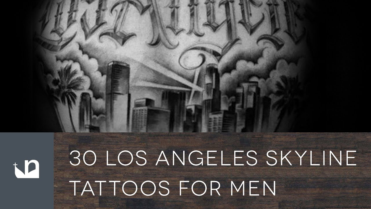 30 Los Angeles Skyline Tattoo Designs For Men – Southern California Ink Ideas