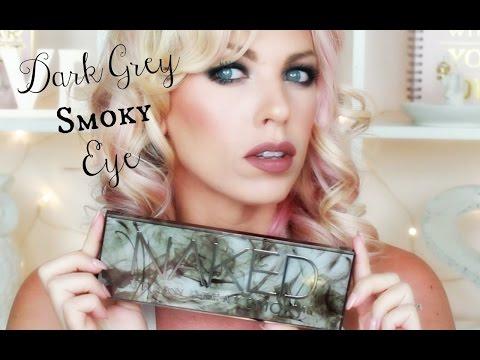 Dark Grey SMOKY Eye ♡ Urban Decay Naked SMOKY Palette Tutorial - 동영상
