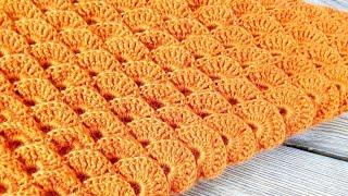 БУДЬ В ТРЕНДЕ! СТИЛЬНЫЙ БАКТУС-ШАЛЬ КРЮЧКОМ! ПОДРОБНЫЙ МАСТЕР-КЛАСС! crochet shawl - BAKTUS