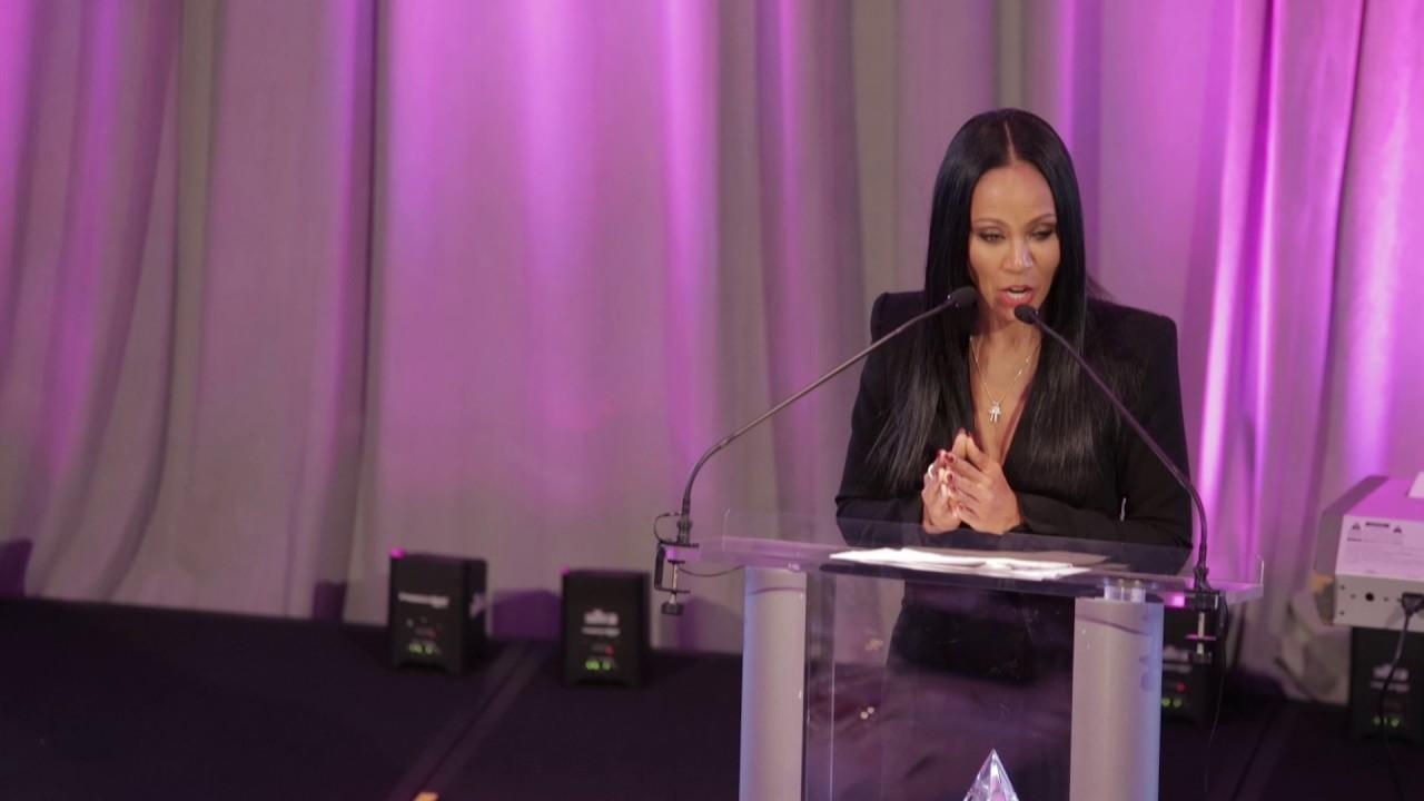 Jada Pinkett Smith Accepts Award At Gems Love Revolution Gala