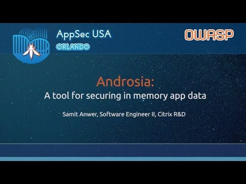 Androsia: A tool for securing in memory sensitive data - App