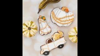 How to Decorate Vintage Pumpkin Cookies 🍊🍁🌻