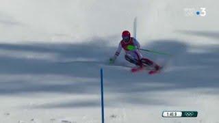 JO 2018 : Combiné Alpin - Slalom Hommes. Premier titre olympique pour Marcel Hirscher  !