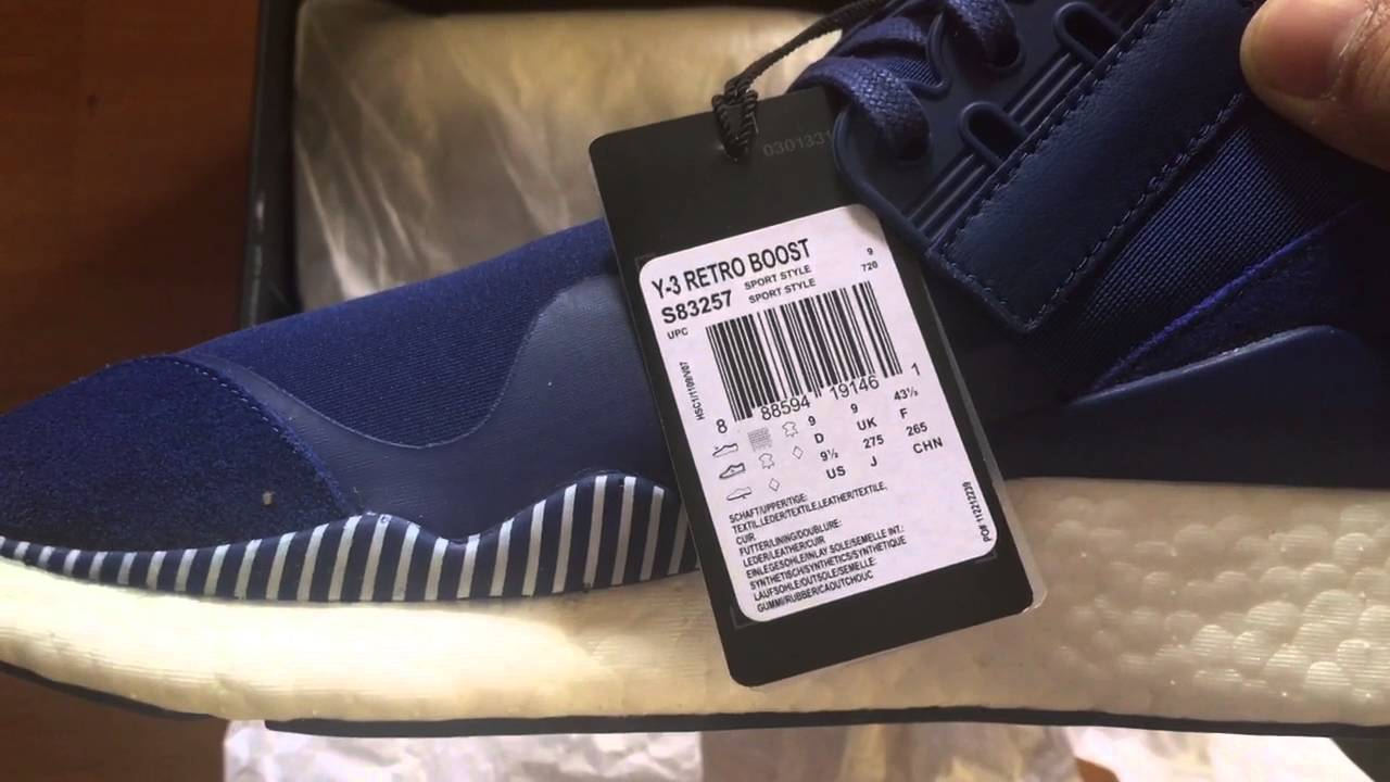 4244cac9eaa6 Y3 Retro Boost in Blue Colorway Adidas First New Pick Up 2016 - YouTube