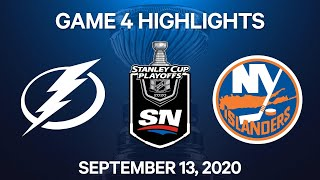 NHL Highlights | 3rd Round, Game 4: Lightning vs. Islanders - Sep 13, 2020