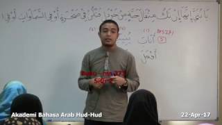 18: Kelas Bahasa Arab Al-Quran (Lanjutan): Ustaz Hanif Shafie (22Apr17)