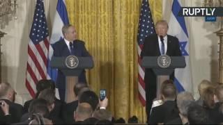 Пресс-конференция Дональда Трампа и Биньямина Нетаньяху
